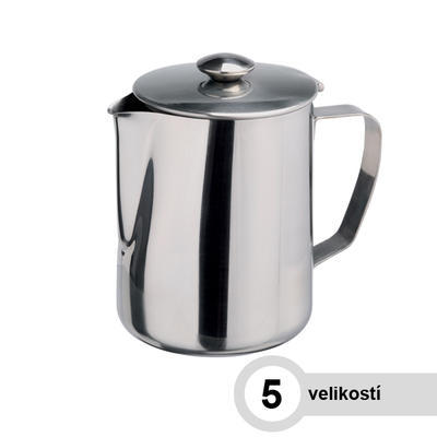 Konvice na kávu nerezová, 0,60 l - 8,0 cm - 13,0 cm