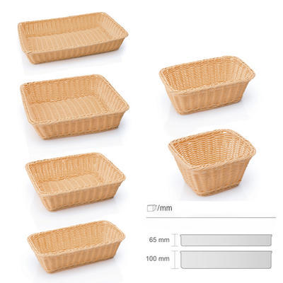 Koš na pečivo bufetový GN světlý, GN 1/2-65 - 32,5 x 26,5 x 6,5 cm - světlé - 1