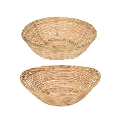 Košík na pečivo bambus, ovál - 27 x 21 cm - 8 cm
