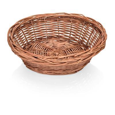Košík na pečivo kulatý proutěný, 43 cm - 13 cm