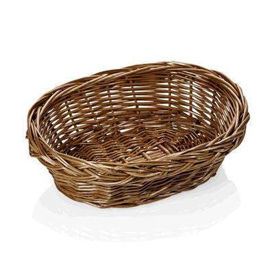 Košík na pečivo oválný proutěný, 24 x 17 x 7 cm