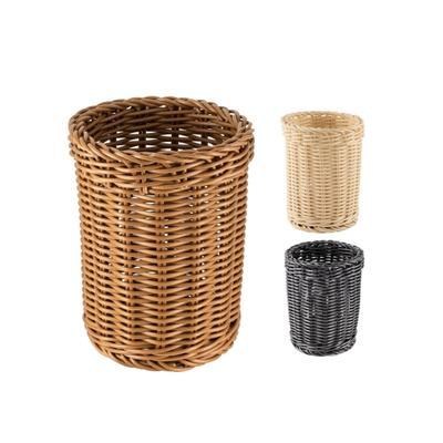 Košík na příbory kulatý, černý - 11,5 x 15 cm - 1