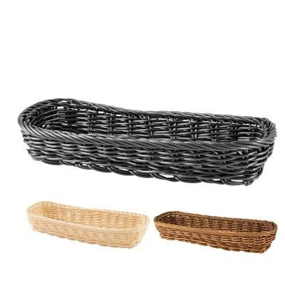 Košík na příbory oválný, hnědý - 27 x 11 x 4,5 cm - 1