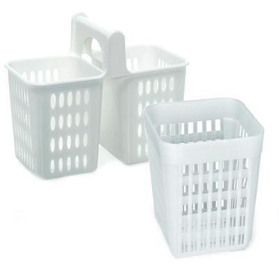 Košík na příbory polypropylen, 2 přihrádky s uchem - 20 x 10,5 x 16,5 cm
