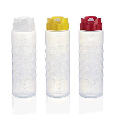 Láhev dávkovací 0,75 l se stupnicí, žluté víko - 750 ml