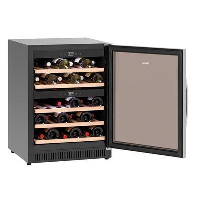 Lednice na víno 40 lahví Bartscher, 590 x 575 x 825 mm - 119 l / 49 lahví - 0,1 kW / 220-240 V