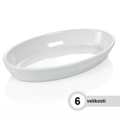 Mísa zapékací oválná bílá, 42 x 25,5 cm - 5,0 cm