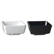 Miska hranatá Square melamin, 25 x 25 x 12 cm - 4,0 l - bílý melamin - 1/4