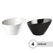 Miska kulatá melaminová BALI, 2,5 l - 24,5 x 15 cm - černá - 1/6