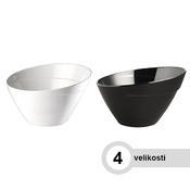 Miska kulatá melaminová BALI, 2,5 l - 24,5 x 15 cm - bílá - 1/6