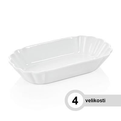 Miska na hranolky porcelánová, miska velká - 25 x 14,5 x 3,5 cm - 1