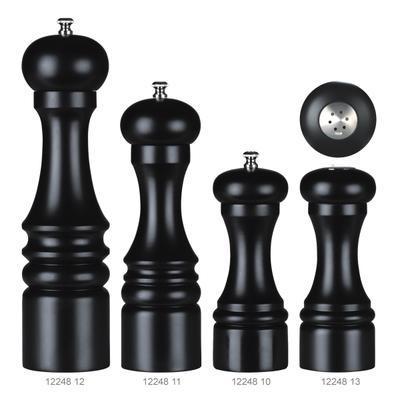 Mlýnek na pepř a slánka černé dřevo, mlýnek na pepř - 21 cm