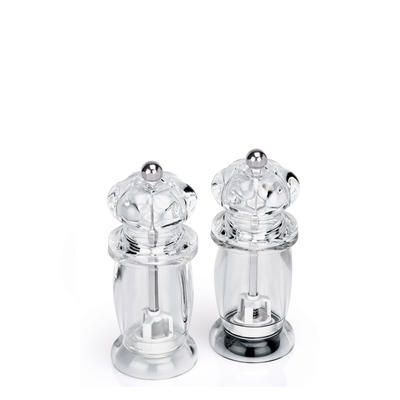 Mlýnek na sůl a pepř akrylový, 14 cm