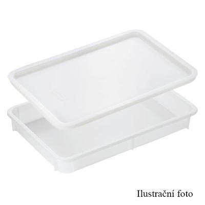 Nádoba na těsto pro pizzu, nádoba z PP - 60 x 40 x 8 cm
