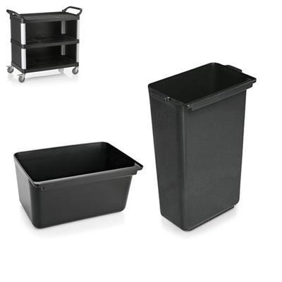Nádoby pro vozík hliník plast s opláštěním, nádoba nízká - 33 x 23 x 18 cm - 1