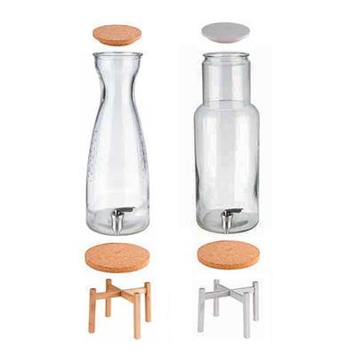 Náhradní díly pro zásobník nápojů Fresh a Nordic, víčko dřevo bílé - 11,5 x 1,5 cm