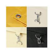 Náhradní pytle pro vozíky na prádlo, vak k 4421 černý - 60 x 35 x 75 cm - NYLON - 1/7
