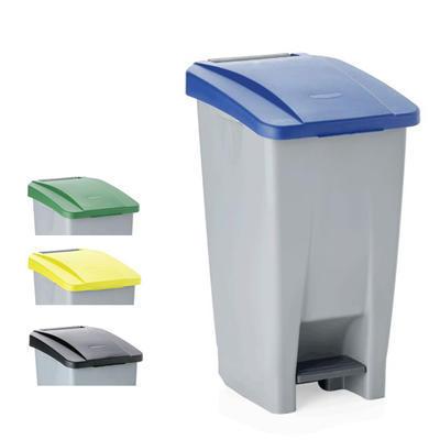 Odpadkový koš 60, 80 a 120 l s víkem, 60 l - 38 x 49 x 70 cm - modré víko - 1