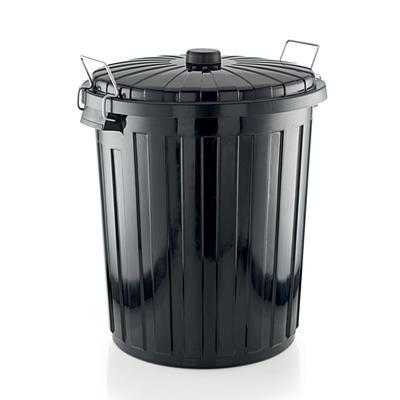 Odpadkový koš s víkem a klipy, 55 l - 55 cm - 46 cm