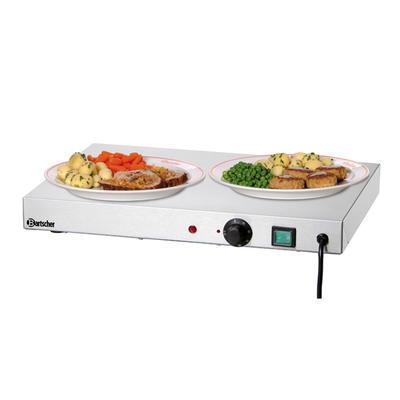 Ohřívací nerezová deska Bartscher, 1000 x 500 x 64 mm - 0,6 kW / 230 V - 16 kg - 1