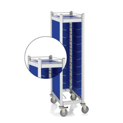 Opláštění a zábradlí pro vozíky Cucina, horní stěna a zábradlí - modrá - 1