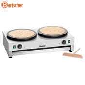 Palačinkovač elektrický dvojitý Bartscher, 2 x 400 mm - 6 kW / 2 x 230 V - 40 kg - 1/3