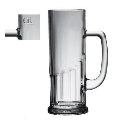 Pivní sklenice s cejchem Evropa, 0,30 l