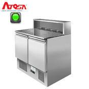 Pizza stůl chladicí ICE3831GR dvoudveřový 5x GN 1/6, 900 x H 700 x V 1082 mm - 310 W / 220 V - 96 kg - 1/2