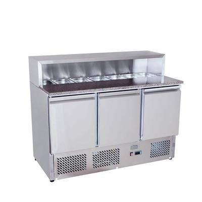 Pizza stůl chladicí ICE3858GR pro 7x GN 1/3, 1365 x 700 x 1112 mm - 310 W / 220 V - 1