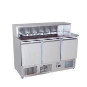 Pizza stůl chladicí ICE3858GR pro 7x GN 1/3, 1365 x 700 x 1112 mm - 310 W / 220 V - 1/4
