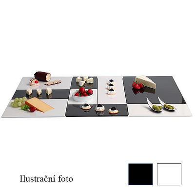 Plato melamin Zero GN bílé a černé, GN 1/4 - 32,5 x 17,6 x 1,5 cm - černá - 1