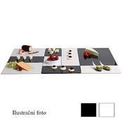 Plato melamin Zero GN bílé a černé, GN 1/4 - 32,5 x 17,6 x 1,5 cm - černá - 1/4
