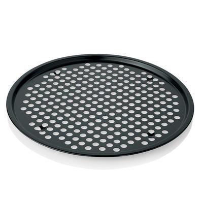 Plech na pizzu kulatý perforovaný, 34 cm - 37 cm - 1 cm