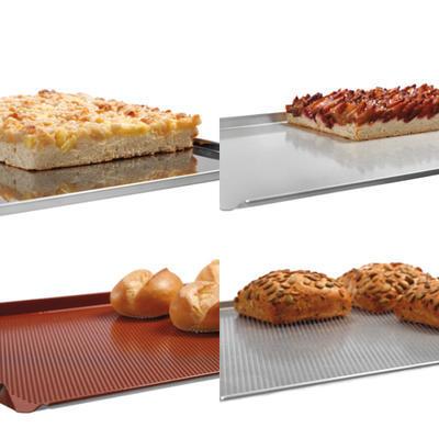 Plechy a rošty pro horkovzdušné trouby Bartscher, 530 x 325 x 10 mm - Plech 4HR, Al, perf. - 0,53 kg - 1