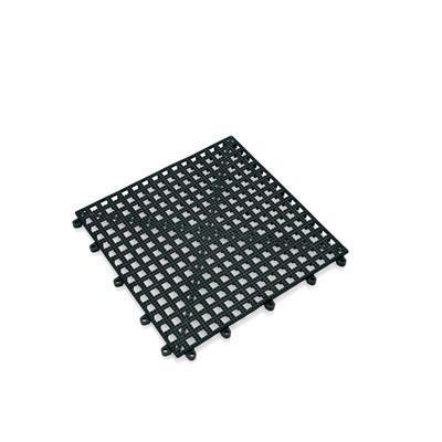 Podložka barová libovolně nastavitelná, 30 x 30 x 2 cm - černá