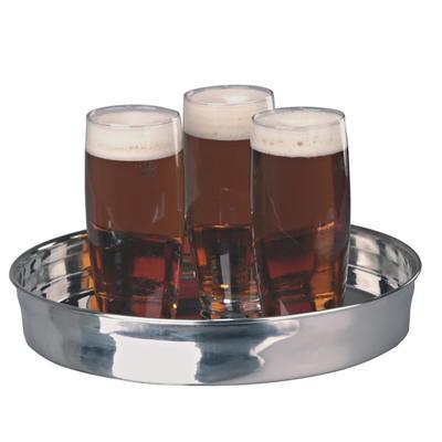 Podnos pivní s vysokým okrajem nerez
