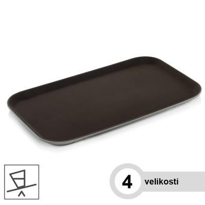 Podnos servírovací série 9208, černá - 26,5 x 32,5 cm - GN 1/2