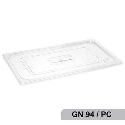 Poklice na gastronádobu polykarbonát GN94, 17,6 x 10,8 cm - GN 1/9