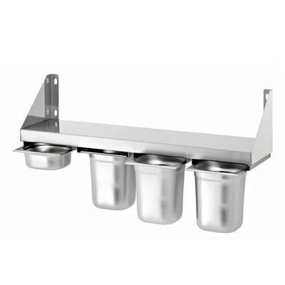 Police na koření 4 x 1/6 GN Bartscher, pro 4 GN 1/6 - 800 x 200 x 150 mm - 40 kg