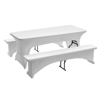 Potah na pivní set 1830 bílý Bartscher, na 1 stul a 2 lavice - 1850 x 290 x 440 mm - 1