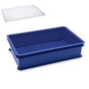 Přepravní a skladovací box modrý, 64,6 x 42 x 2 cm - víko k přepravce - 1/3