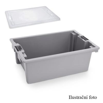 Přepravní a skladovací box šedý, 55 x 40 x 22 cm - 66 x 45 x 23 cm - box bez víka - 1