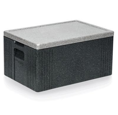 Přepravní termobox GN 1/1 šedý EPP, GN 1/1 (vyšší) - 60 x 40 x 30 cm - 54 x 34 x 24 cm