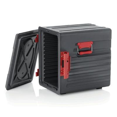 Přepravní termobox GN 12 vsuvů ABS, dvířka s panty - 64 x 44 x 61 cm - 54 x 40,5 x 50 cm - 1