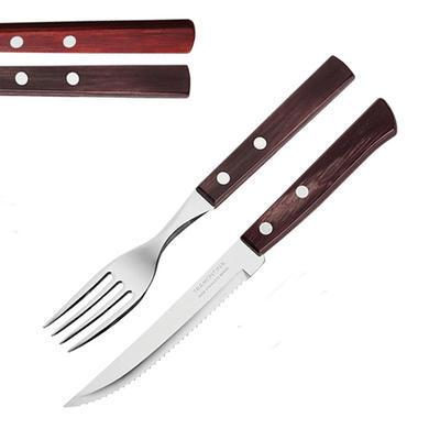 Příbor na pizzu a steaky Tramontina, nůž steak - 21 cm - hnědá - 1
