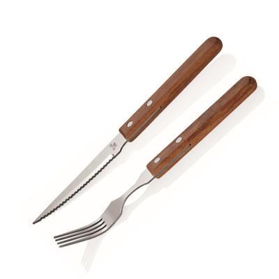 Příbor steakový Wood, steaková vidlička - 20 cm /  tl. 2 mm