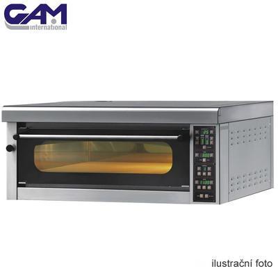 Profesionální pec na pizzu GAM ME6 TOP, 2 x 3 řady - 6 x pizza 34 cm - 7200W