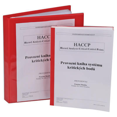 Provozní kniha systému kritických bodů HACCP, v šanonu včetně školení - rychlé občerstvení s výrobou pokrmů