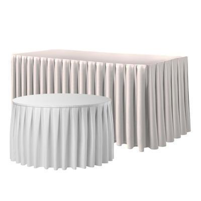 Rautová sukně řasená Excaliber, bílá - 490 x 73 cm - 1
