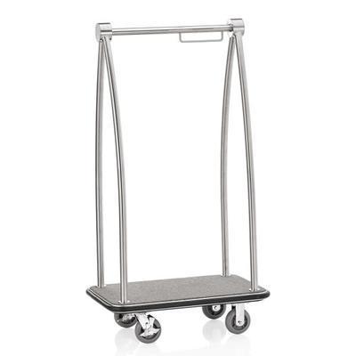 Recepční vozík Resort, barva ocelová/šedá - 93 x 60 x 171,5 cm